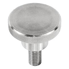 Knurled Thumb Screws in stainless steel, DIN 464, inch