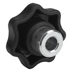 Star Grips with plain steel bushing, Style H,  inch