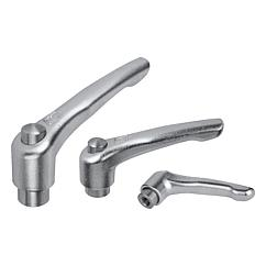 Adjustable Handles with protective cap Modern Design Style, stainless steel, internal thread, inch
