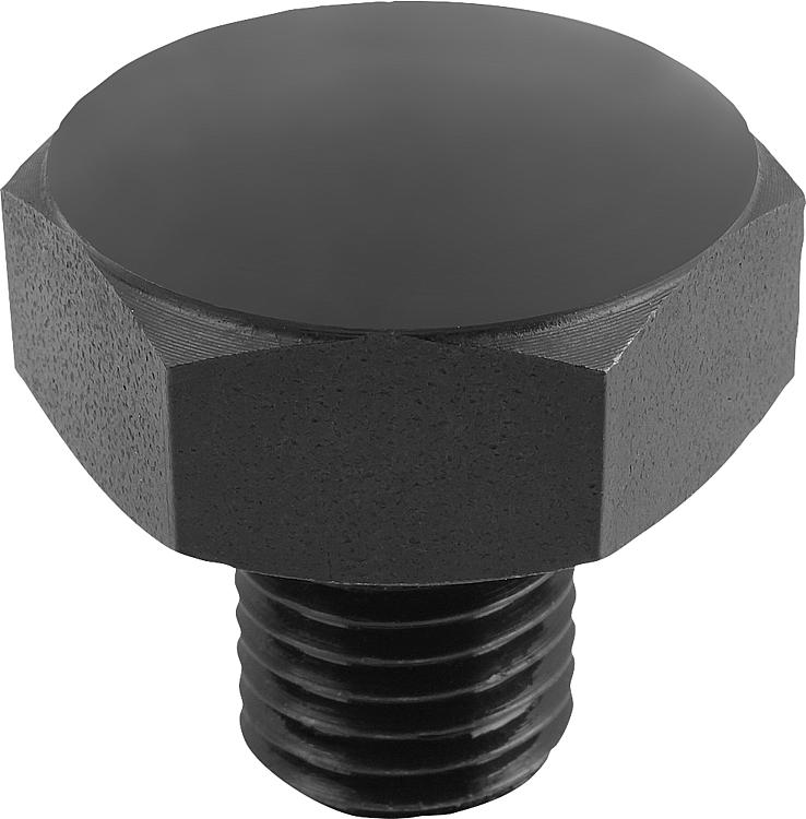 KIPP - Positioning Feet with external thread and convex face, Style B