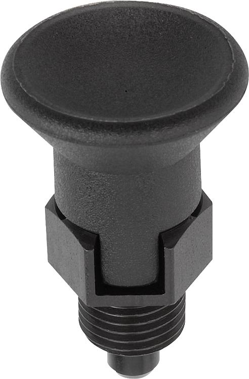 Kipp Indexing Plungers Pull Knob Short Version Style C