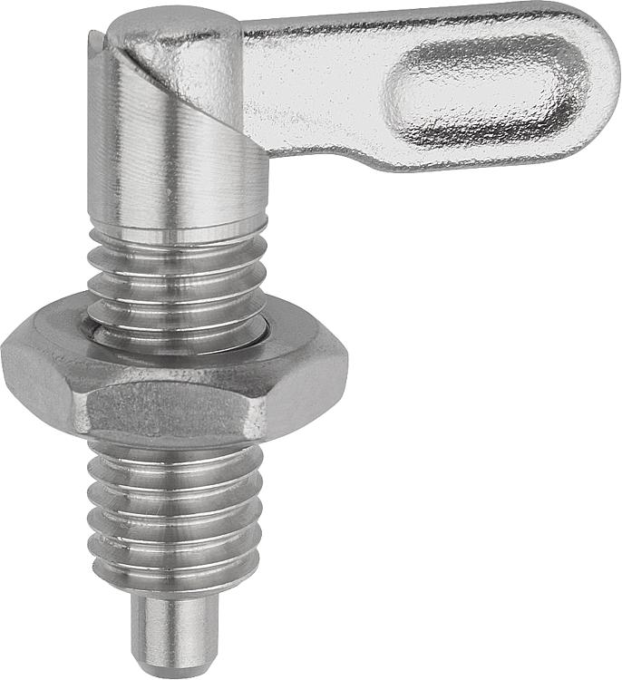 Kipp Cam Action Indexing Plunger Stainless Steel Style