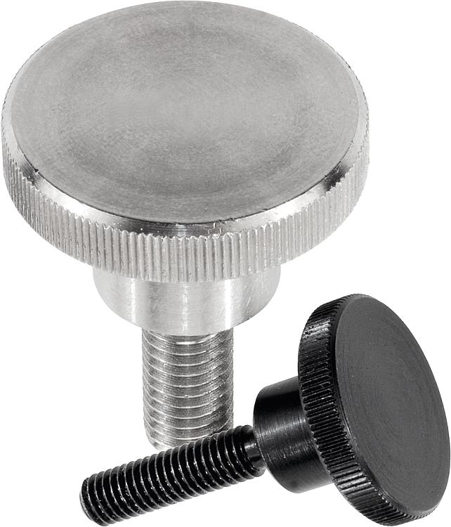 Fully Threaded Knurled Head 303 Stainless Steel Thumb Screw 25mm Length M8-1.25 Metric Coarse Threads Meets DIN 464 Imported