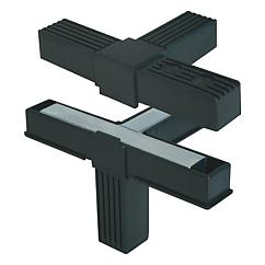 Square tube connectors four-way