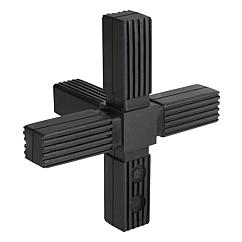 Square tube connectors five-way