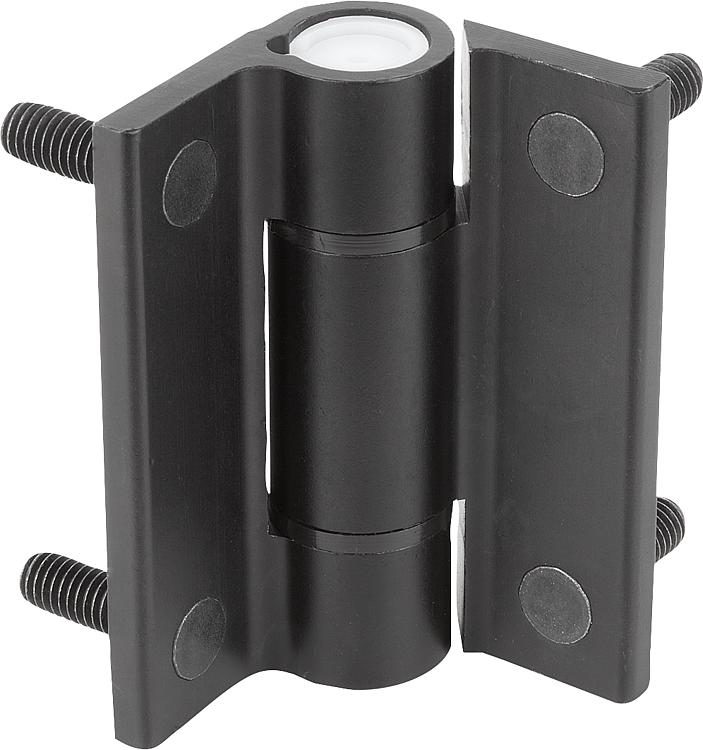 KIPP - Hinges aluminum, with adjustable friction, Form B