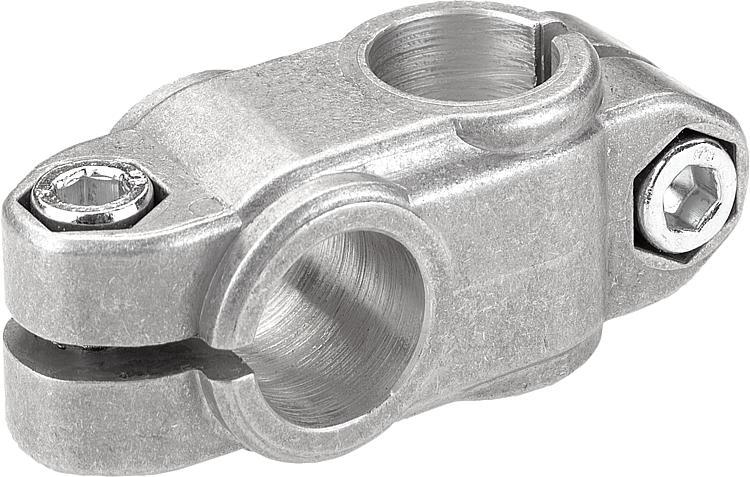 KIPP - Tube clamps cross aluminum
