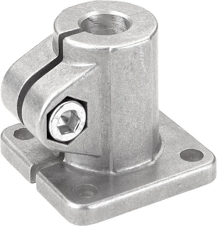 KIPP - Tube clamps base aluminum