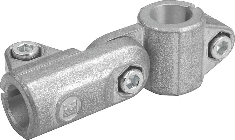 KIPP - Tube clamps swivel aluminum