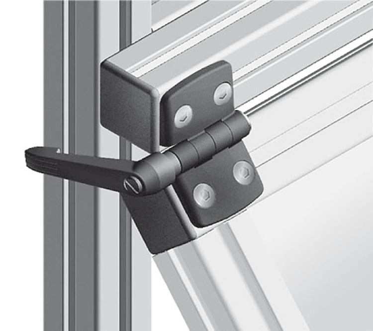 Kipp hinges plastic with locking lever