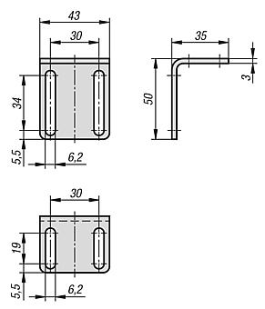 Angle bracket for magnetic lock