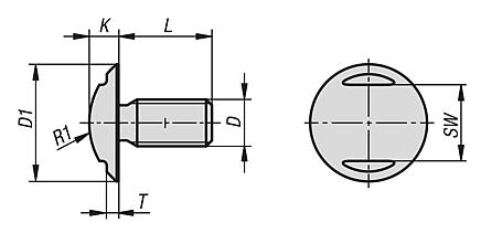 Ball head screw in Hygienic DESIGN